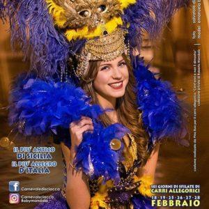 Emanuela Bacchi in costume di carnevale.