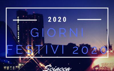 Giorni festivi 2020 Sciacca